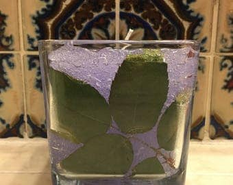 Leaf gel candle
