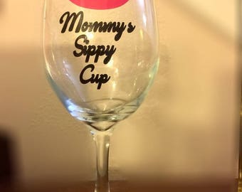 Mommy's Sippy Cup Wineglass 20 oz