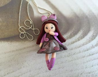 Necklace little girl, anime necklace