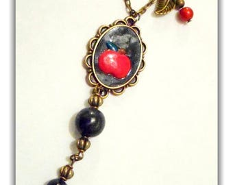 The Apple from snow white necklace Fimo
