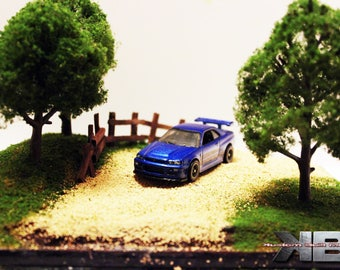 1:64 Rally Race Diorama