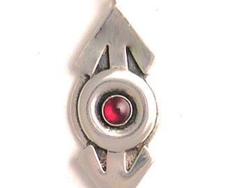 Double Mars Pendant with Gemstone