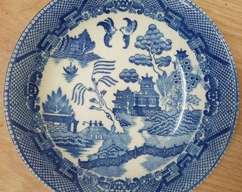 Vintage Occupied Japan Blue and White Bowl 1940's