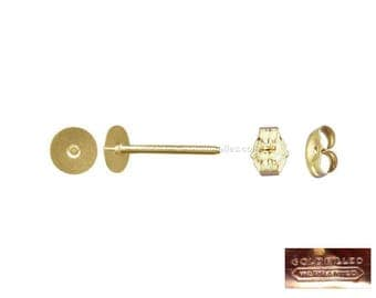 Gold Filled - 6mm earstuds : 2 or 10