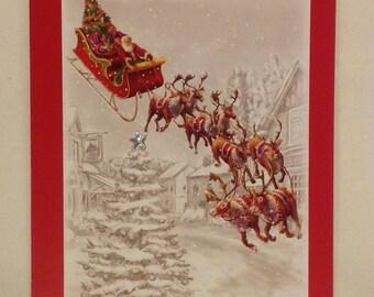 Christmas card - Santa on his sleigh!