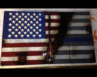 Handcrafted American Police Flag