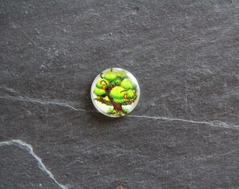 "Cabochon 18 mm ""Tree provided"" glass"