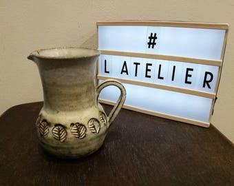 Beautiful Albert THIRY ceramic pitcher