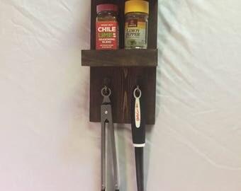 Hanging Spice Rack and Utensil Holder