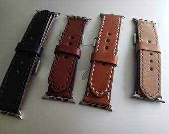 Leather Watch Band for Apple Watch & Others CUSTOM Made to Order
