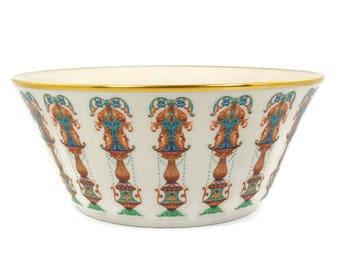 Vintage Lenox Lido Serving Bowl / Salad or Fruit Bowl / Decorative Centerpiece / 24k Gold Trim