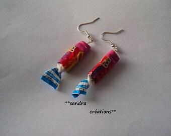 earring caram'bar rainbow color