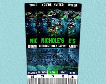 Seattle Seahawks Invitation, Seattle Seahawks Birthday, Seattle Seahawks Party, Ticket Invitation, Seattle Seahawks Instant Download