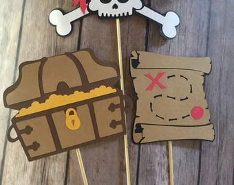 Cake Toppers, Centerpieces, Pirate Party, Pirate Theme