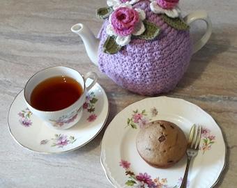 Purple Lady Crochet Tea Cozy