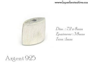 Rectangle silver ring 925 sterling silver brushed
