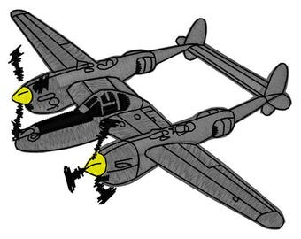 WWII Mosquito Fighter Plane Embroidery File