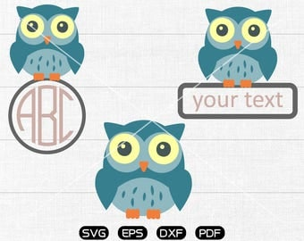 Owl Clipart, Owl SVG, cricut, silhouette cut files commercial use