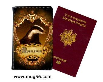 hufflepuff harry potter - 01-009  passport cover holder