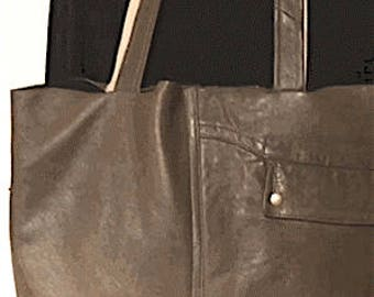 bags made from an old leather jacket