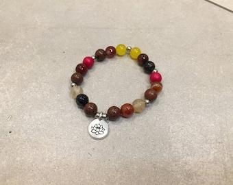 Autumn mala bracelet