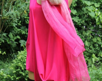 """Dress and tank top """"Calla"""" (2 in 1) - viscose jersey (Pink)"""