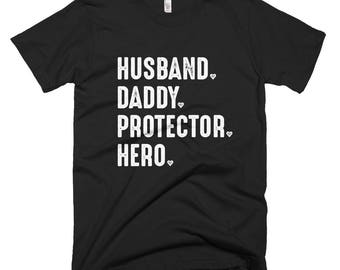 Mens T-Shirt / Graphic Tee / Husband Gift / Daddy Shirt / Protector Hero / Gift Shirt / Mens Gift Shirt / Christmas Gift