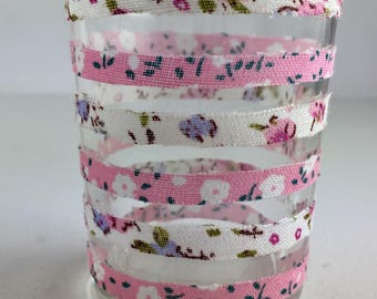 Simple stylish floral jar