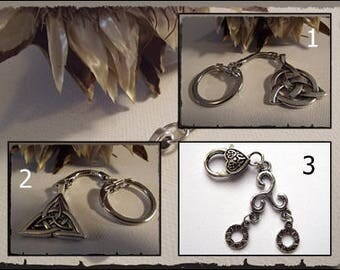 Celtic pattern key Celtic silver Triquetra Monad triskel