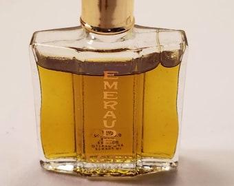 Vintage 1960's Coty Emeraude Parfum 0.25 oz