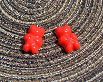 Red Teddy bear charms