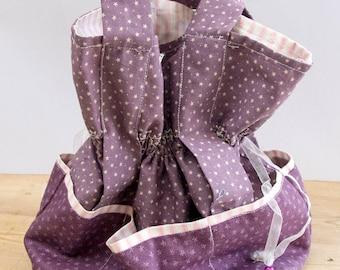 Drawstring Purple Bag