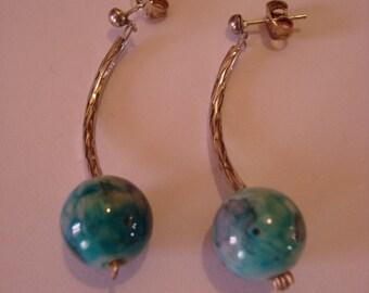 Blue Tube earrings