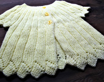Canary Yellow Baby Cardigan