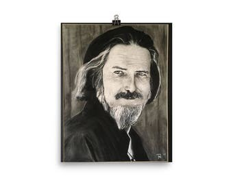 Alan Watts - Photo paper poster