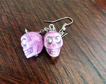 Handmade Skull Earrings