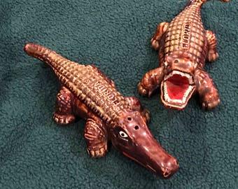 Vintage Florida Alligator Salt and Pepper Shakers