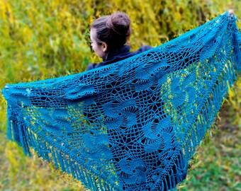 crochet shawl bridal cover plus size shawls shrug navy shawl blue shrug indigo scarf downy shawl bohemian shawl cover up shawl scarf crochet