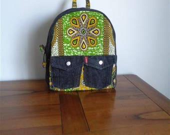 Recycled denim BACKPACK and wax