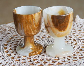 Onyx - Hand Carved Egg Cups