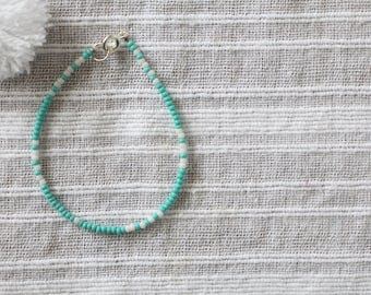 Personalized Morse Code Seed Bead Bracelet