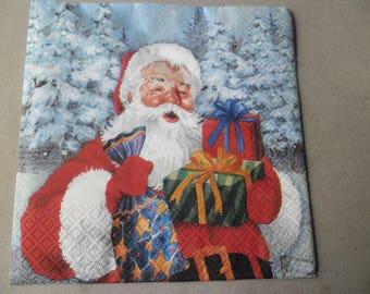 x 1 napkin on the theme of Christmas 33 x 33 cm
