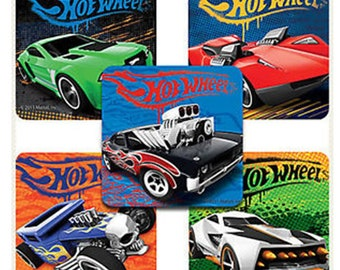 "25 Hot Wheels Classic Stickers, 2.5"" x 2.5"""