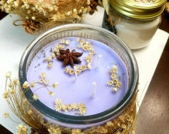 Scents candles with double aroma. Can be use for decoration,relaxation or religion.