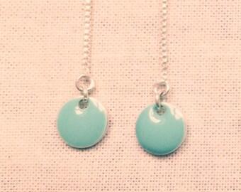 Turquoise dot earrings