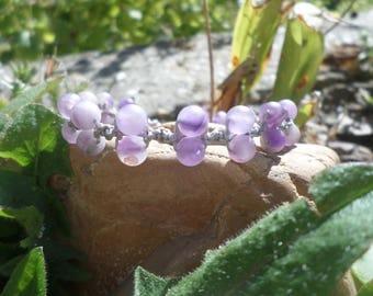"""Awakening and crown chakra"" bracelet with Amethyst beads"