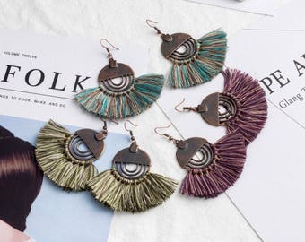 Beautiful combination of boho and tassels style