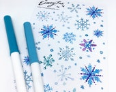 Let it Snow Stickerset-limited Edition-watercolor sticker-pretty planning-scrapbooking-bullet journaling