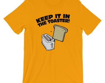 Keep It In The Toaster, Marching Band Tee Shirt, Color Guard Shirt, Bread and Toaster, Funny Color Guard Gift