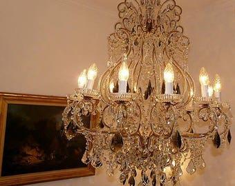 CHANDELIER, Kronleuchter,Lustre,crystal antique,lampadario